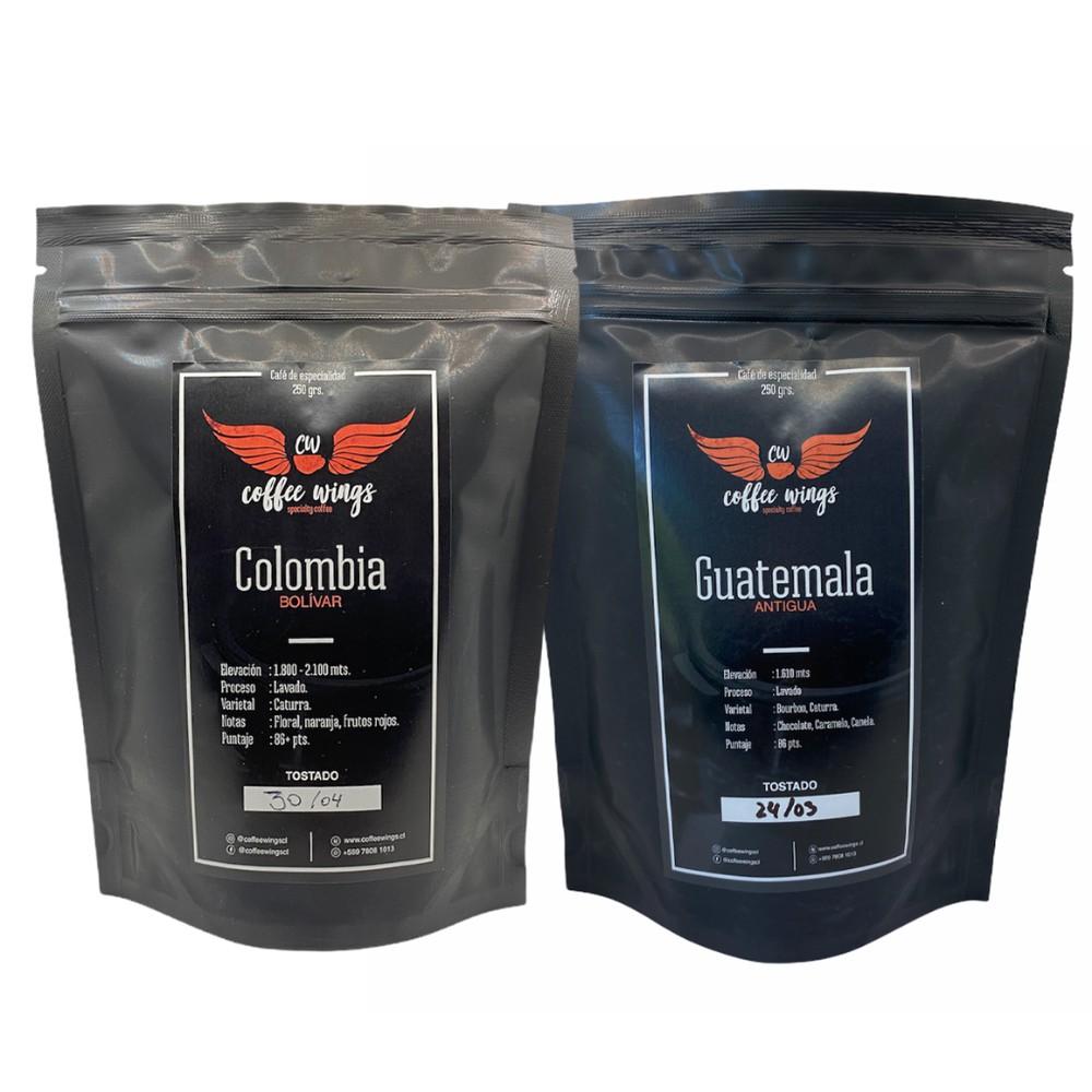 1+1 colombia + guatemala 250 grs (grano) 2 x 250