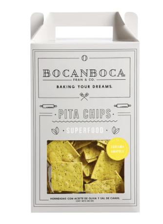 Pita chips curcuma amapola