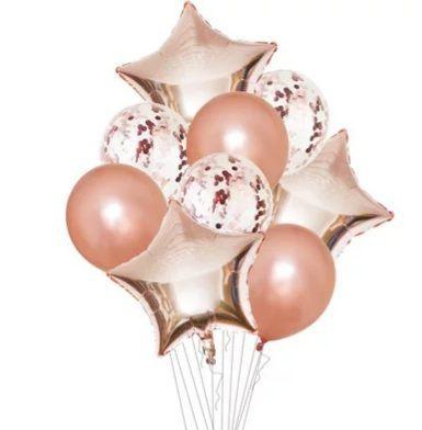 Set de globos rose 10uni