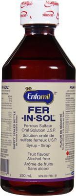 Fer-in-sol solution - fruit flavour 250 mL