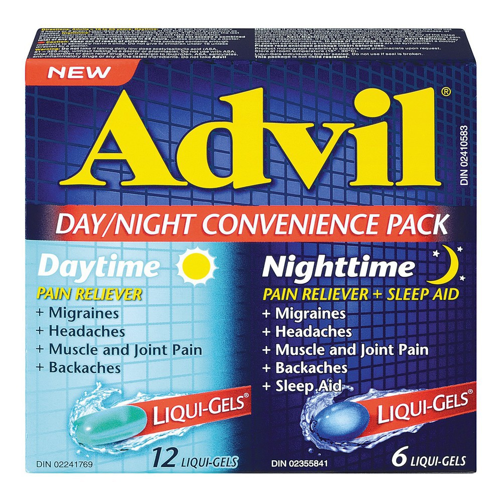 Day&night convenience pack caps 18 ct