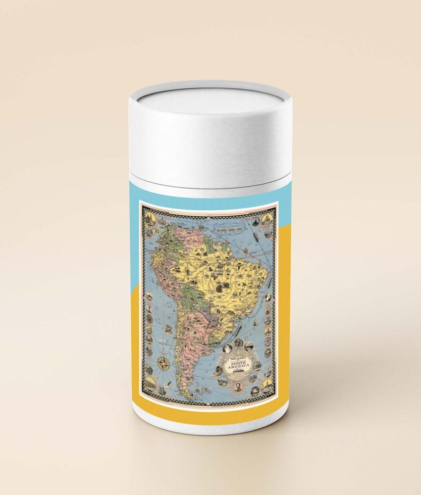 Puzzle sudamérica (en tubo) - 1.000 piezas