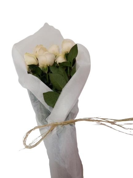 Rosas blancas 5 varas