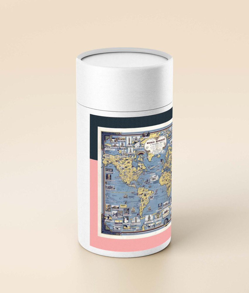 Puzzle mapa de maravillas (en tubo) - 1.000 piezas