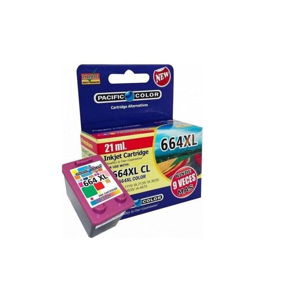 Tinta alternativa HP 664XL Color Caja 1un