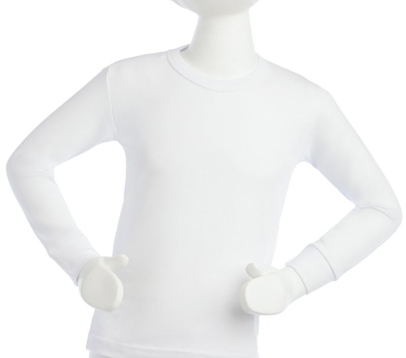 Camiseta algodón manga larga infantil niño Talla 4