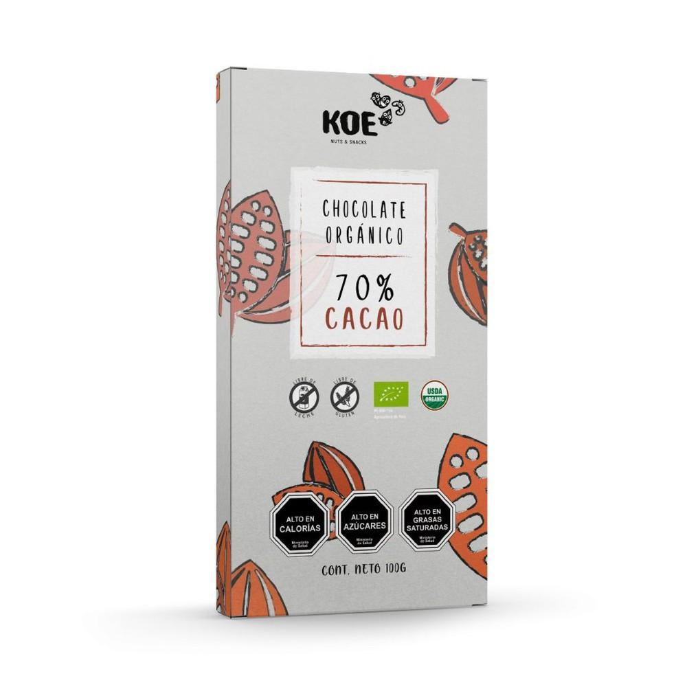 Chocolate orgánico 70% cacao