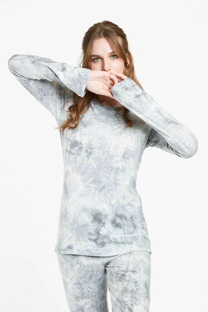 Pijama praga gris estampado  m M