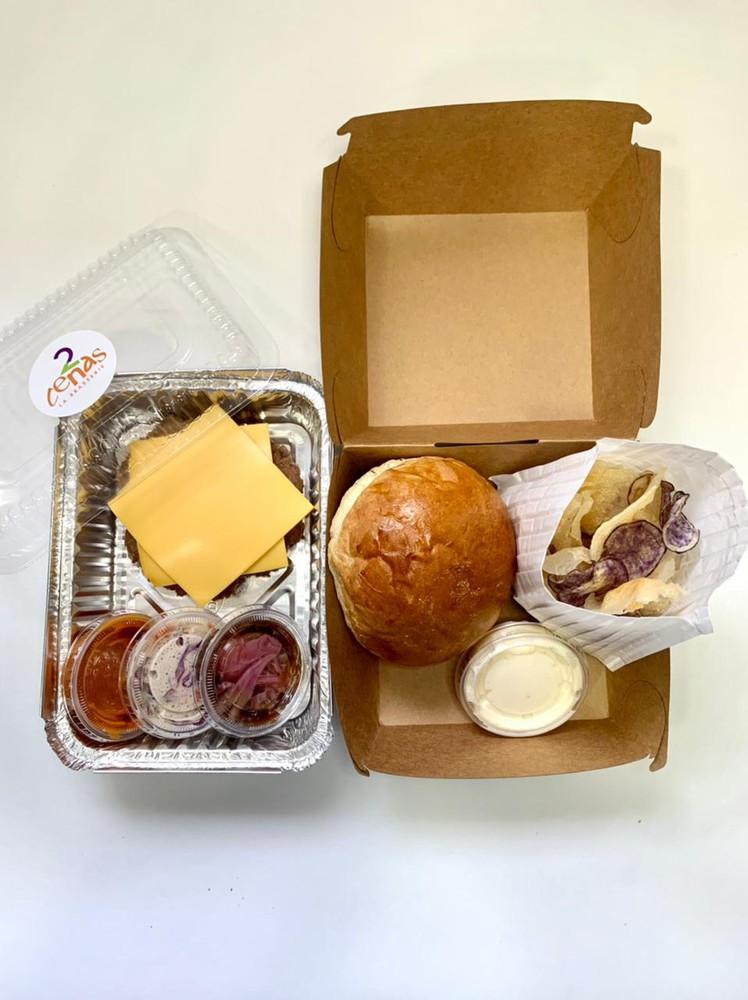 Hamburguesa popular 1 porción individual