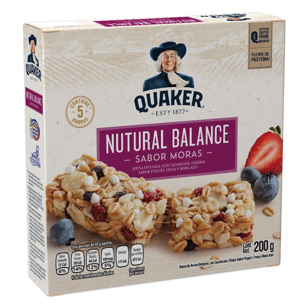 Barra natural balance moras yogurt