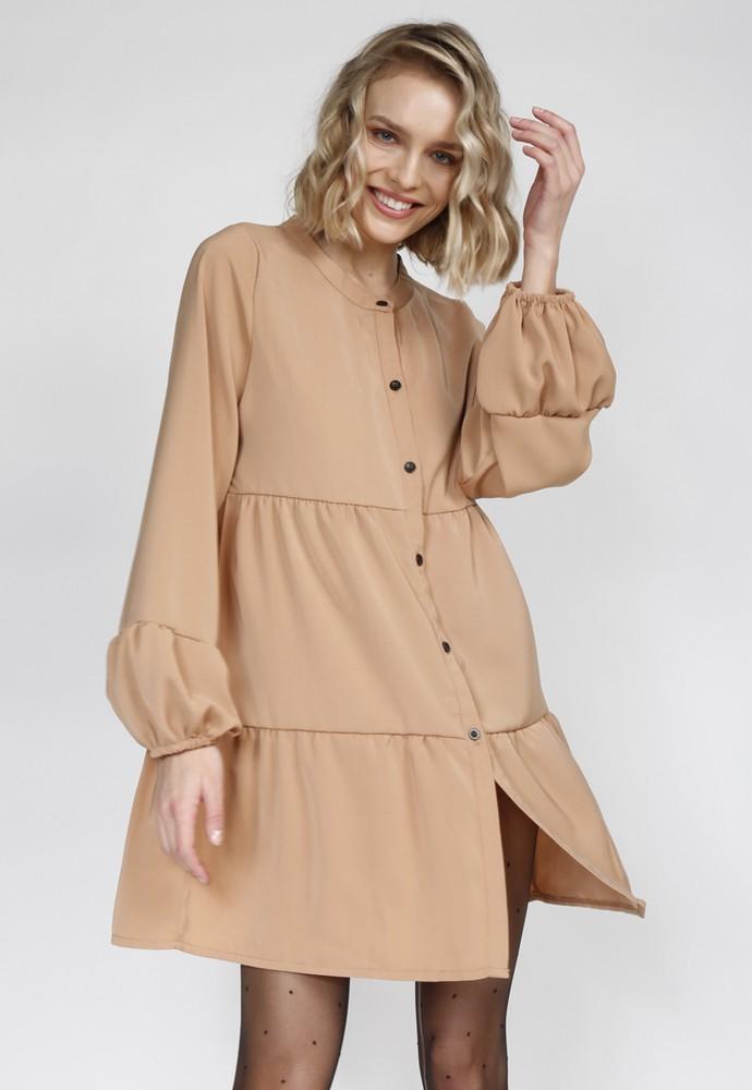 Vestido amber camel L