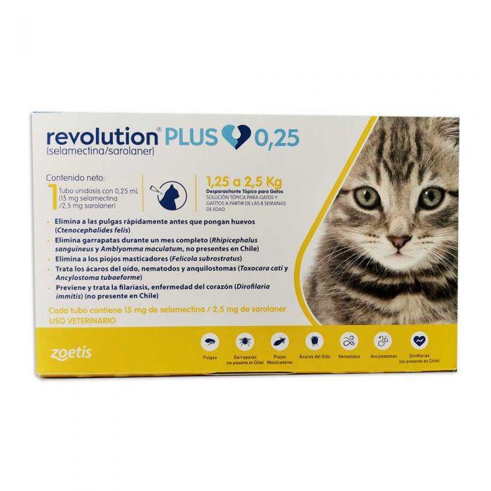 Revolution plus Gatos 1.25 Kg a 2.5 kg