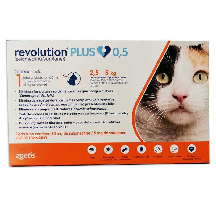 Revolution plus Gatos 2.5 kg a 5 kg