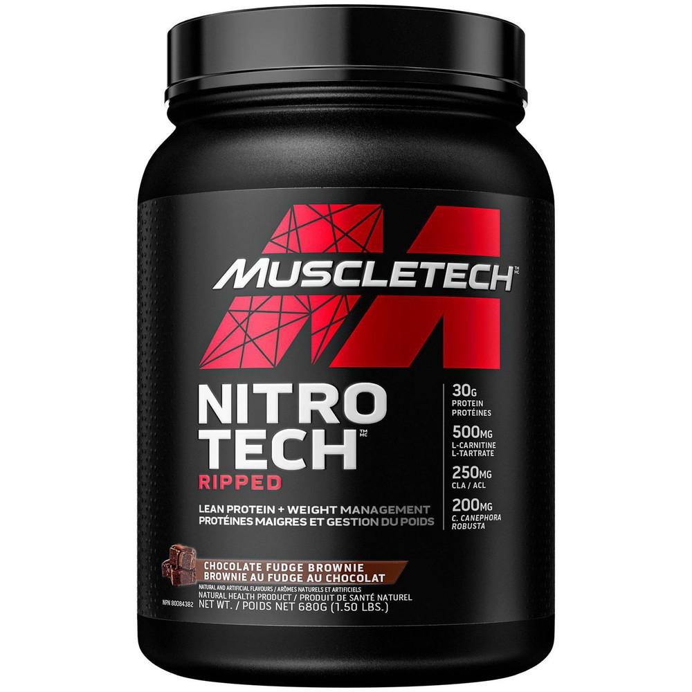 Nitro Tech ripped chocolate fudge brownie powder