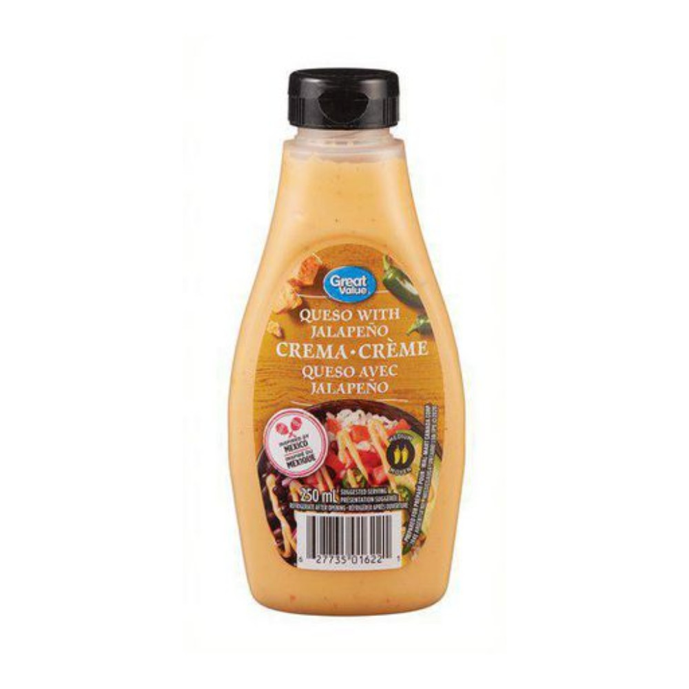 Queso with jalapeño crema
