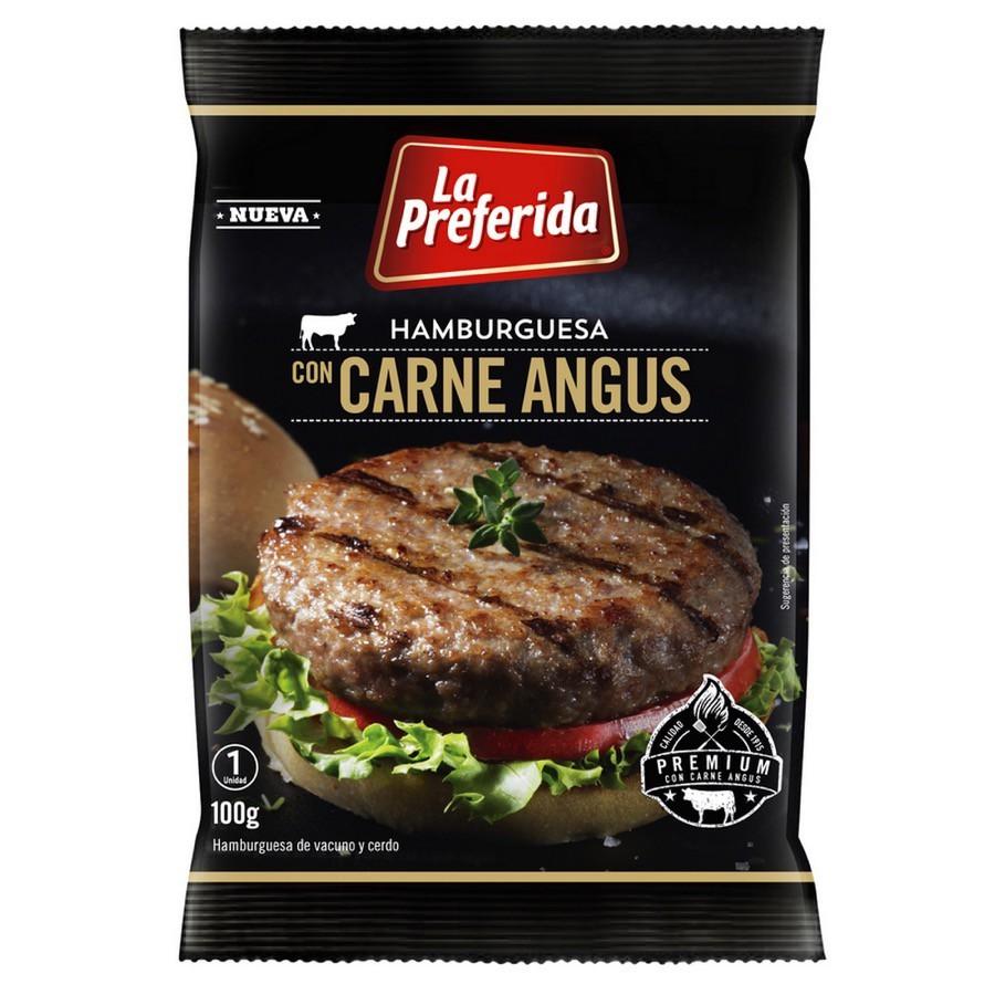 Hamburguesa con carne angus