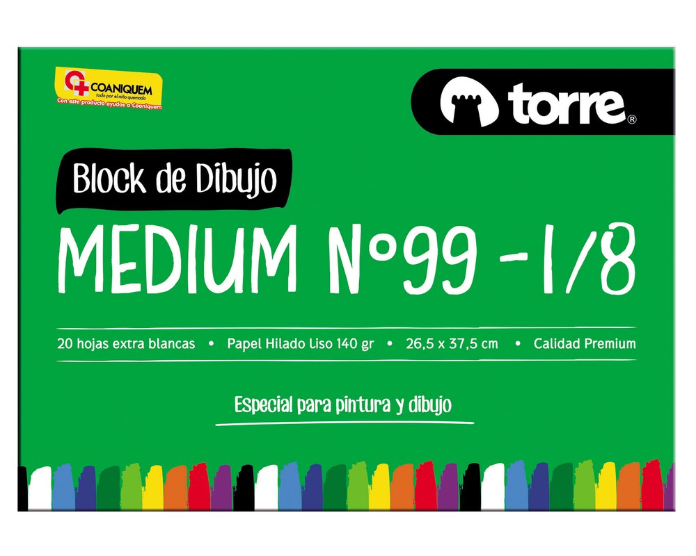 Block dibujo medium nª 99 20 hojas