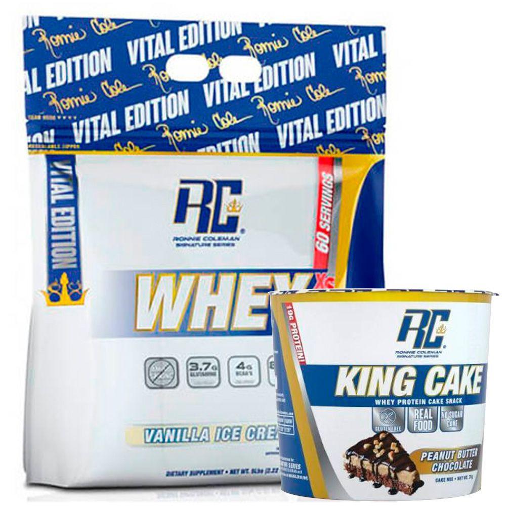 Whey xs sabor vainilla ice cream + gratis king cake sabor peanut butter chocolate
