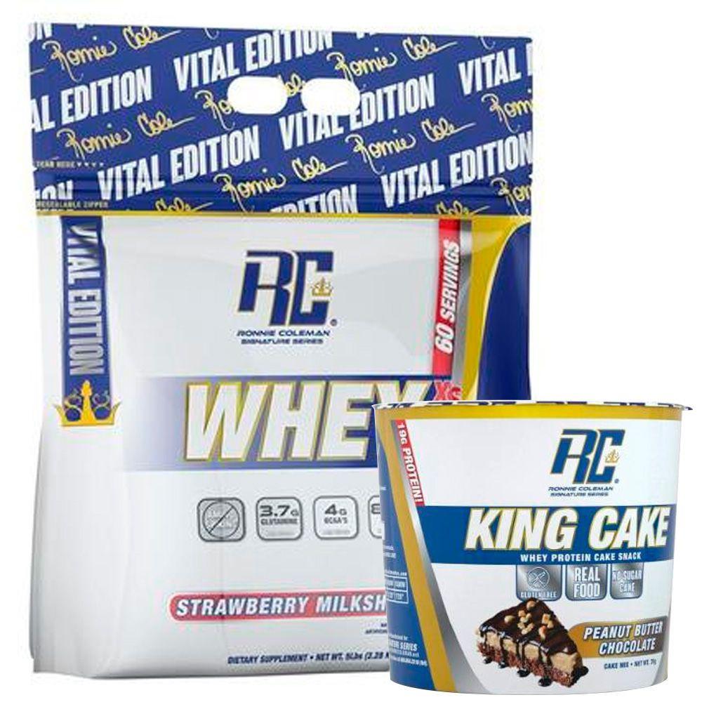 Whey xs sabor frutilla + gratis king cake sabor peanut butter chocolate