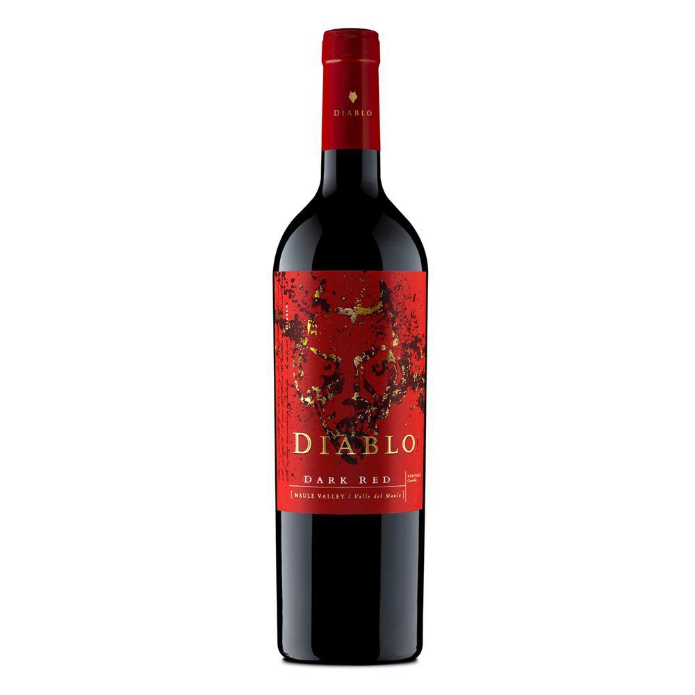 Vino tinto blend dark red