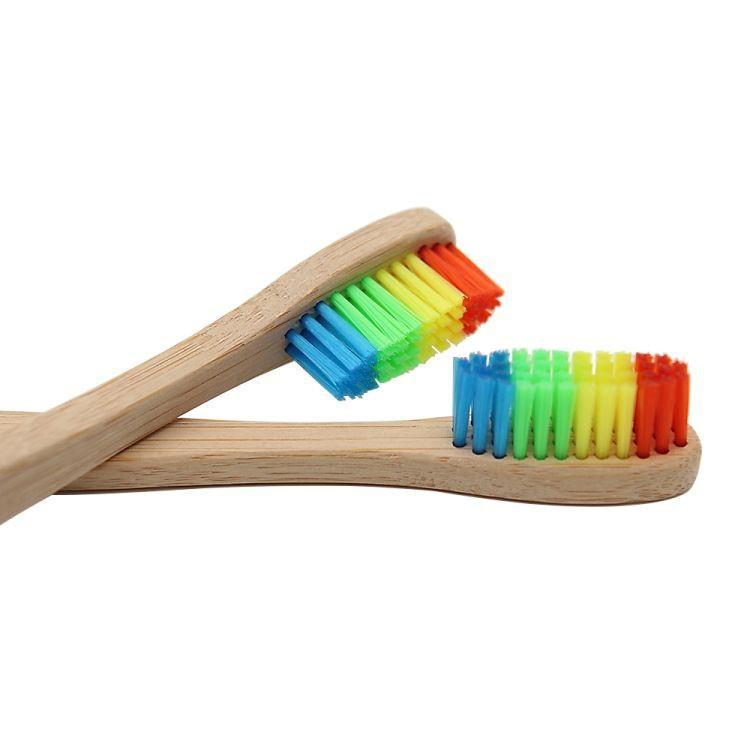 Cepillo de dientes bamboo rainbow biodegradable Bolsa 1un