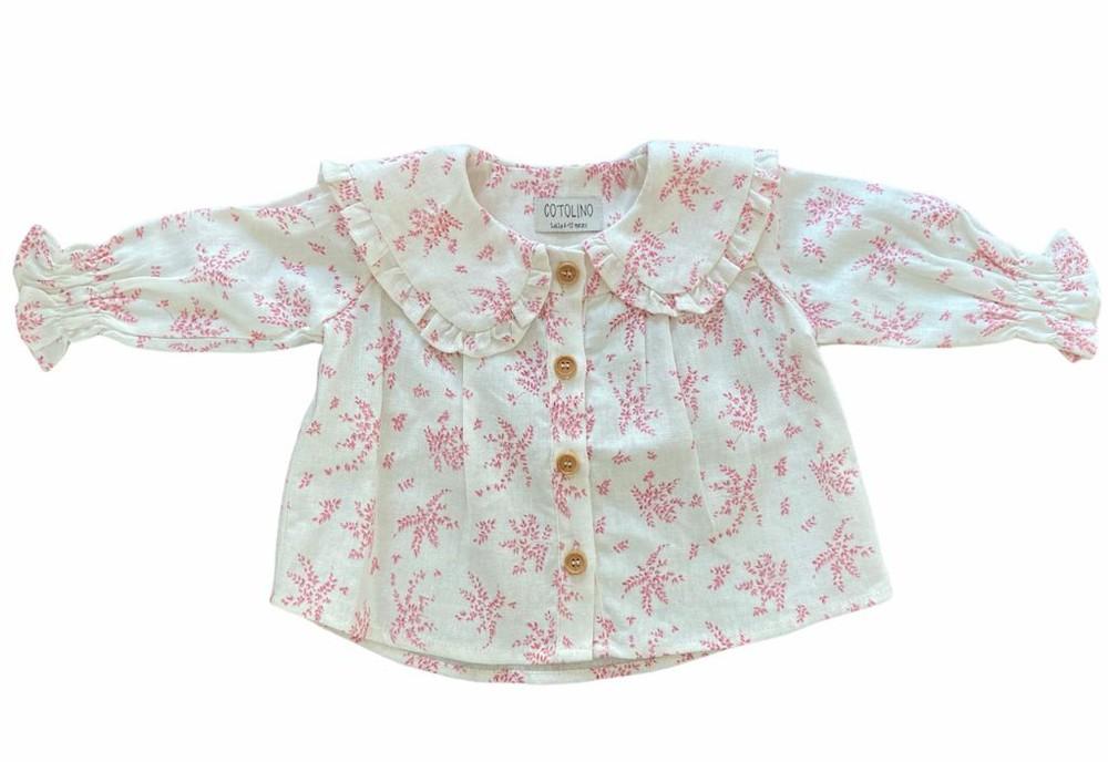 Blusa de lino margarita estampada 6-12m