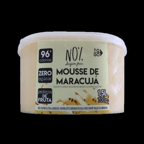Sorvete de Mousse de maracujá zero 1,5l
