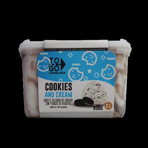Sorvete de Cookiens and cream 2l