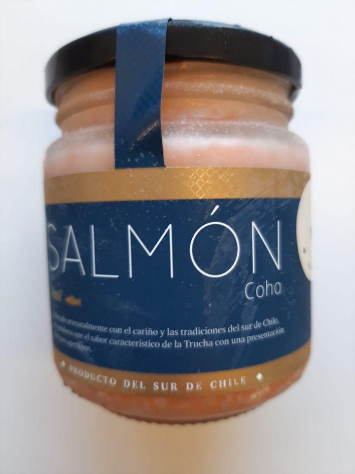 Paté de Salmón Coho Ahumado - AJO Frasco 180 gr