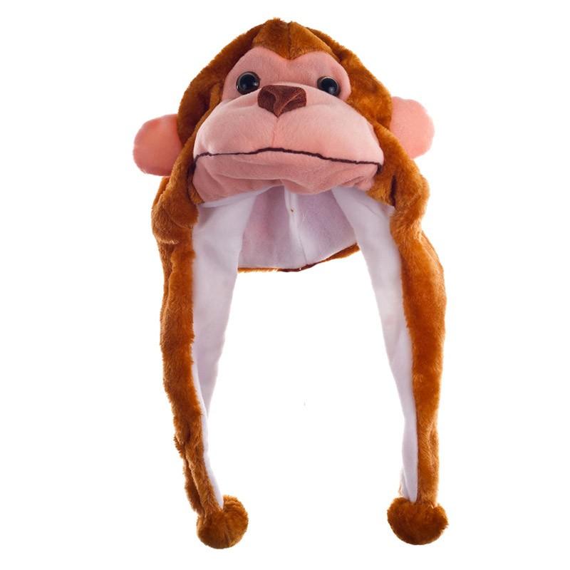 Sombrero con orejeras mono