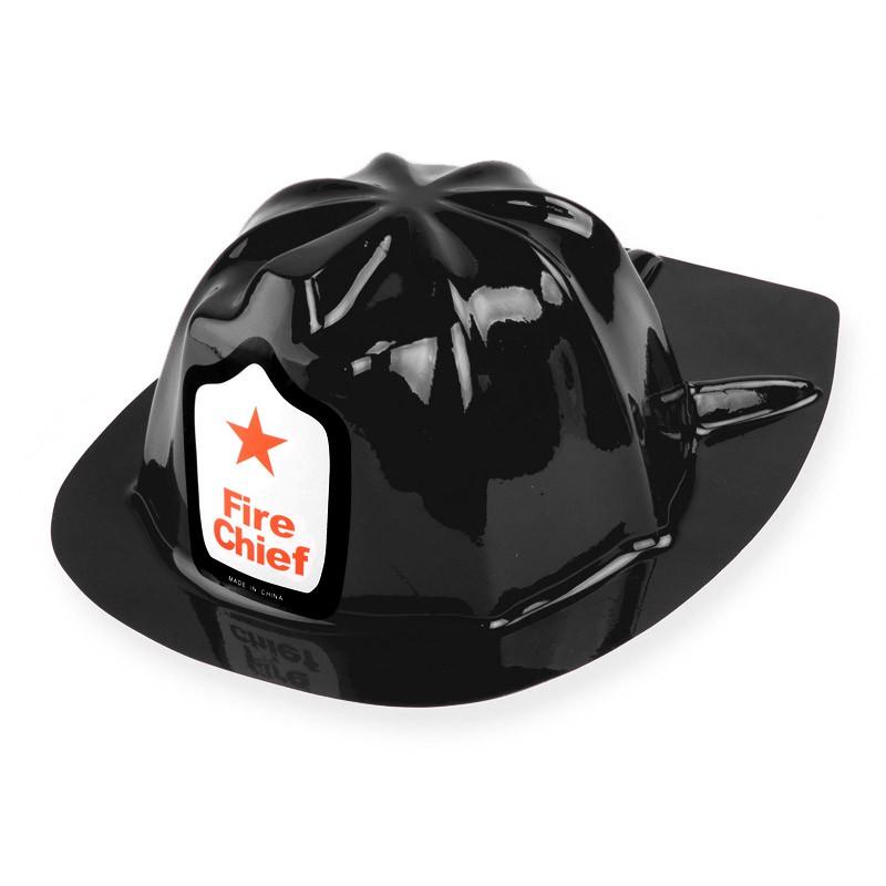 Sombrero bombero plastico negro