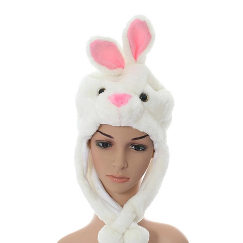 Sombrero con orejeras conejo