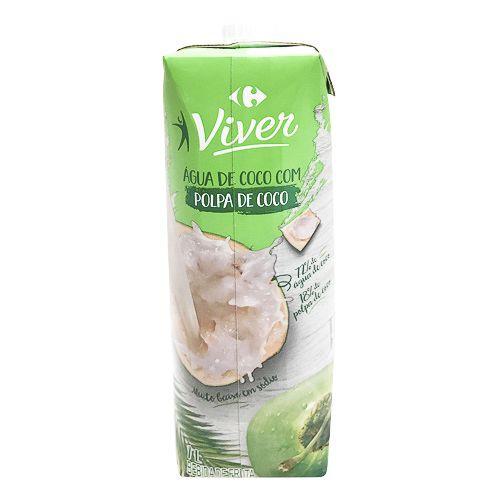 Água de coco Viver com polpa de coco
