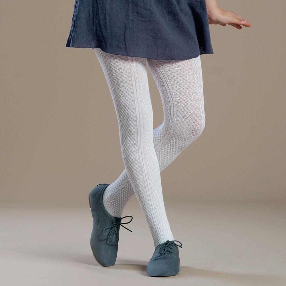 Panty Infantil Algodón Blanco Talla 4-6 art.11398