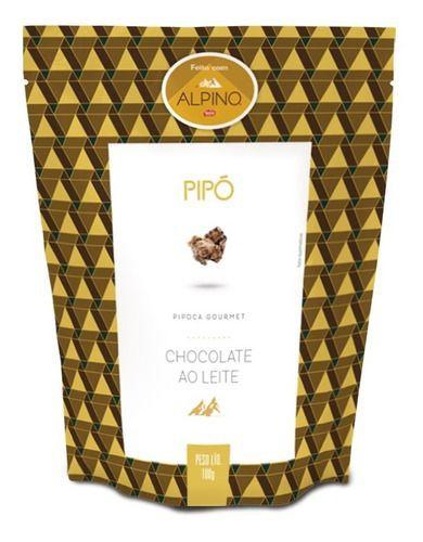 Pipoca gourmet chocolate ao leite Alpino