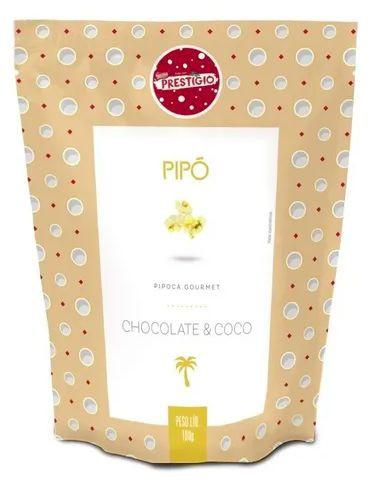 Pipoca gourmet chocolate e coco Prestígio