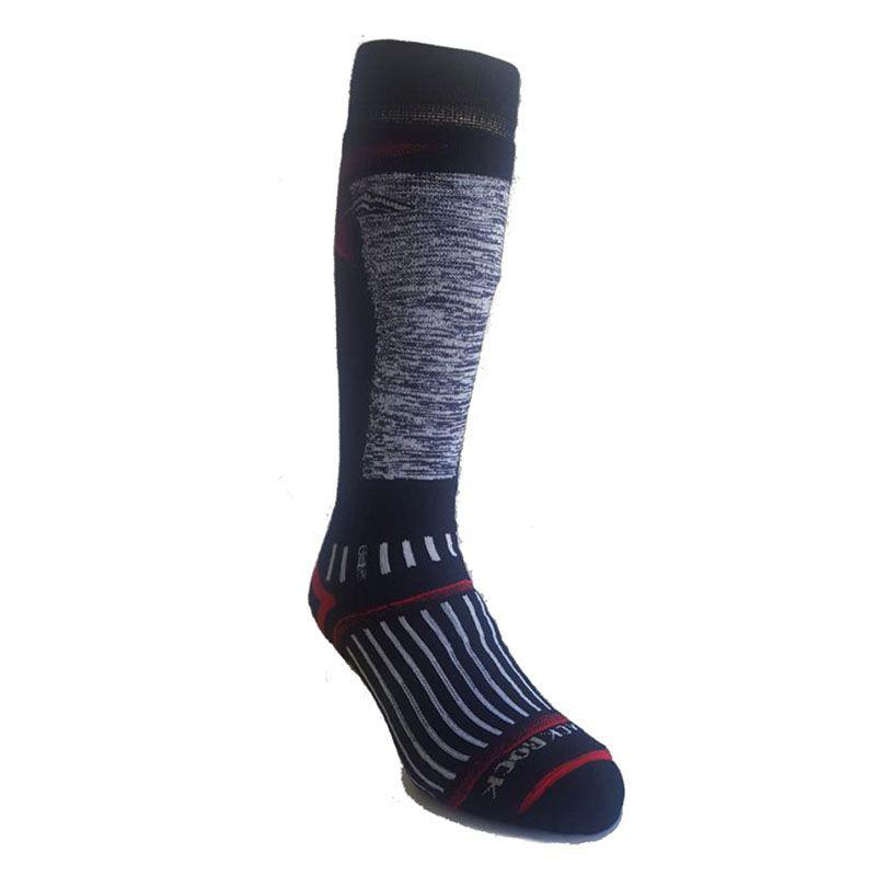 Medias ski 25 - gris/rojo/negro talla l Tallas S: 35-38, M: 37-40, L 40-44