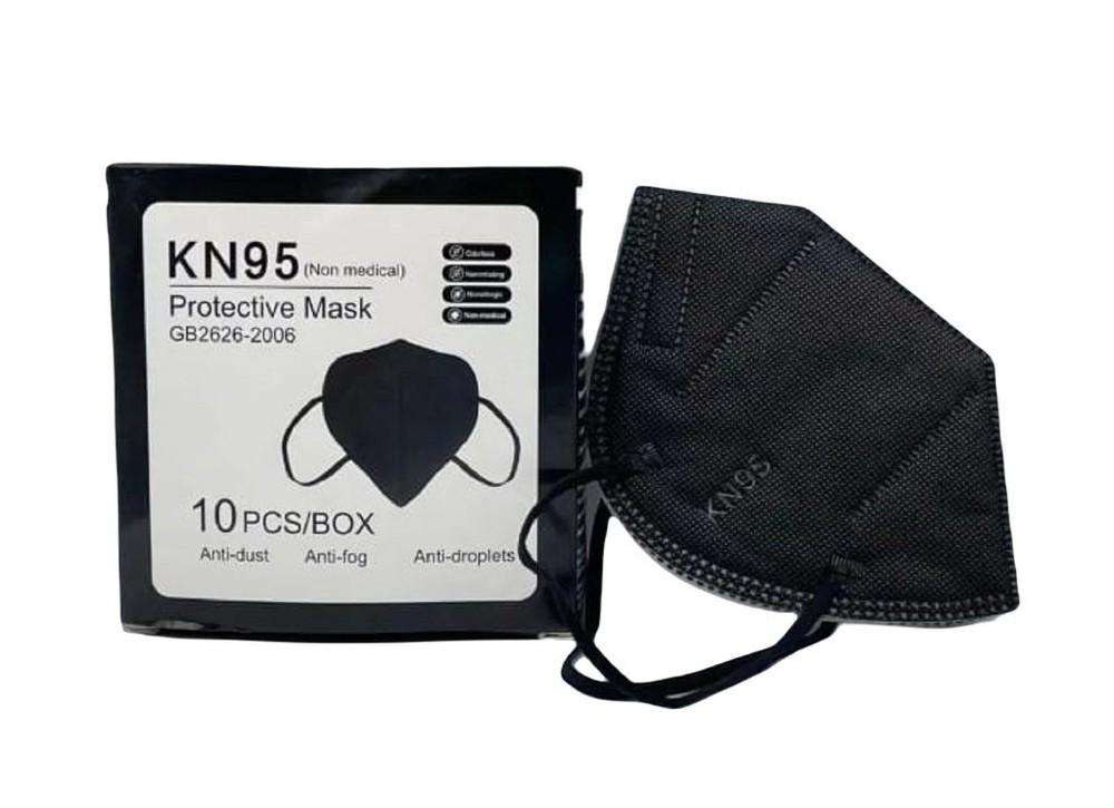 Mascarilla negros kn95 certificada 10 uds Caja 10 unidades