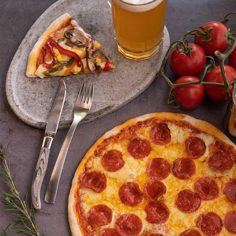 Pizza super pepperoni 8 porciones