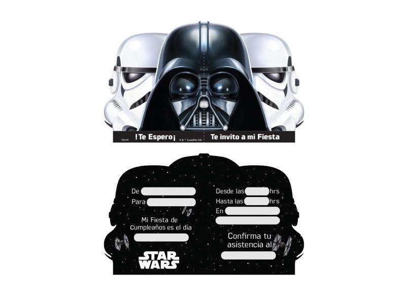 Tarjetas De Invitacion Star Wars X 6 Cornershop