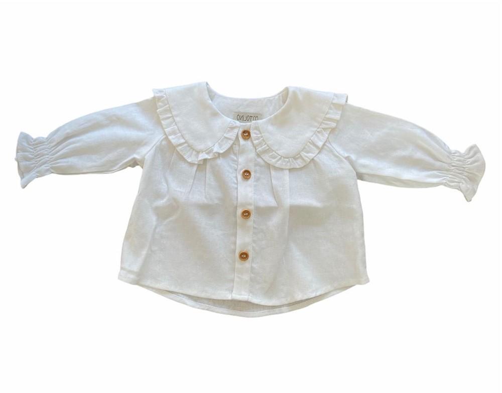 Blusa cuello bobo blanca 4 años