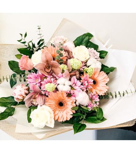 Blush hand tied bouquet