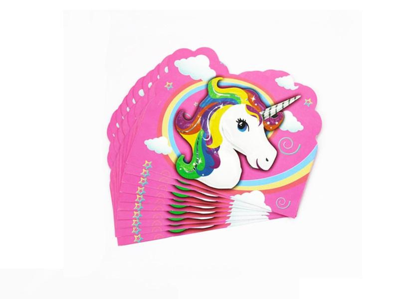 Tarjeta De Invitacion Unicornio X 6 Cornershop