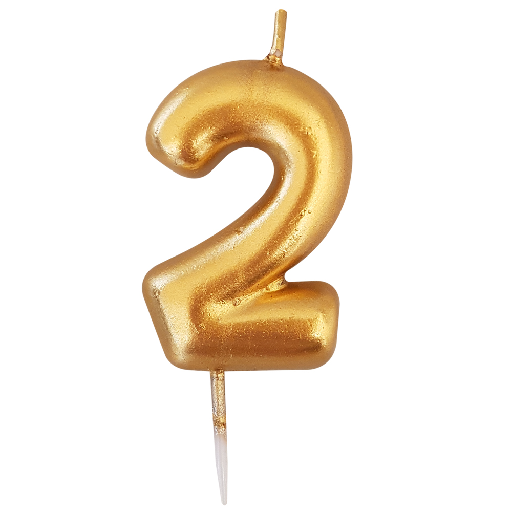 Vela número dorada #2