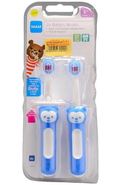 Kit escova dental baby's brush azul