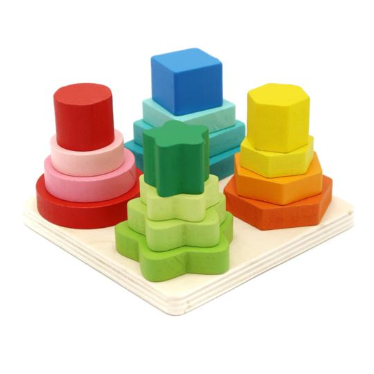 Juego de encaje de figuras geométricas Caja de cartón