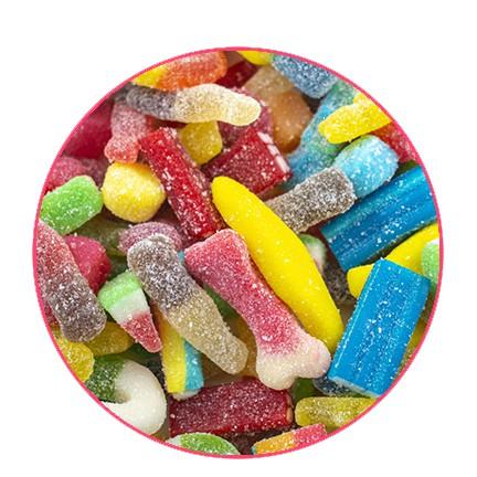 Mélange de bonbons sablés