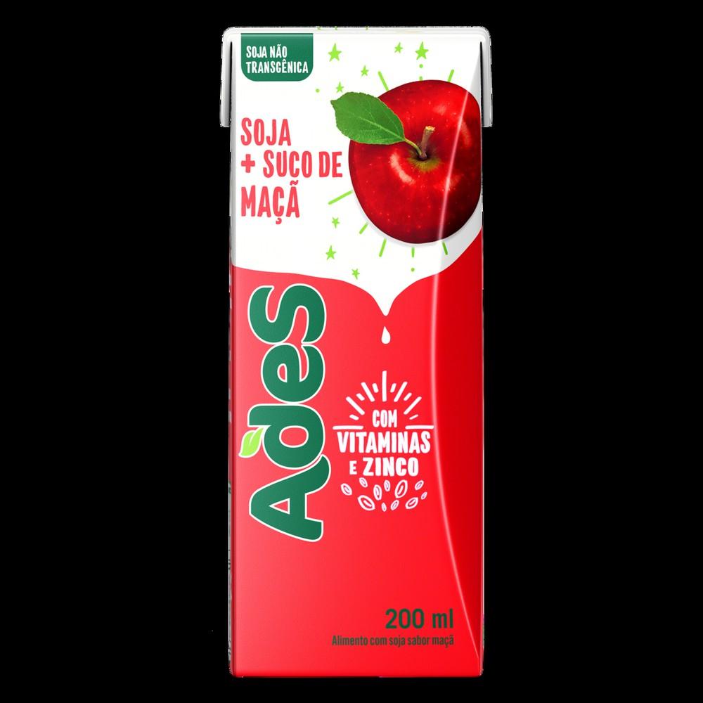 Bebida à base de soja sabor maçã