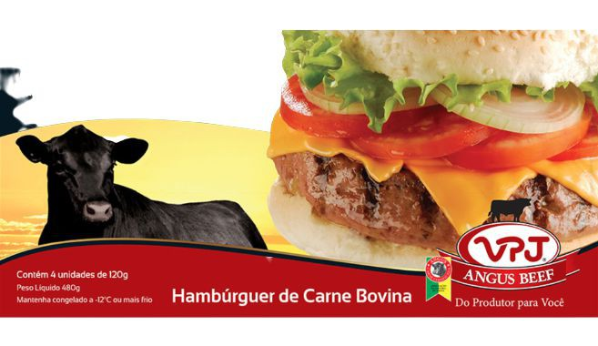 Hambúrguer de carne bovina congelado