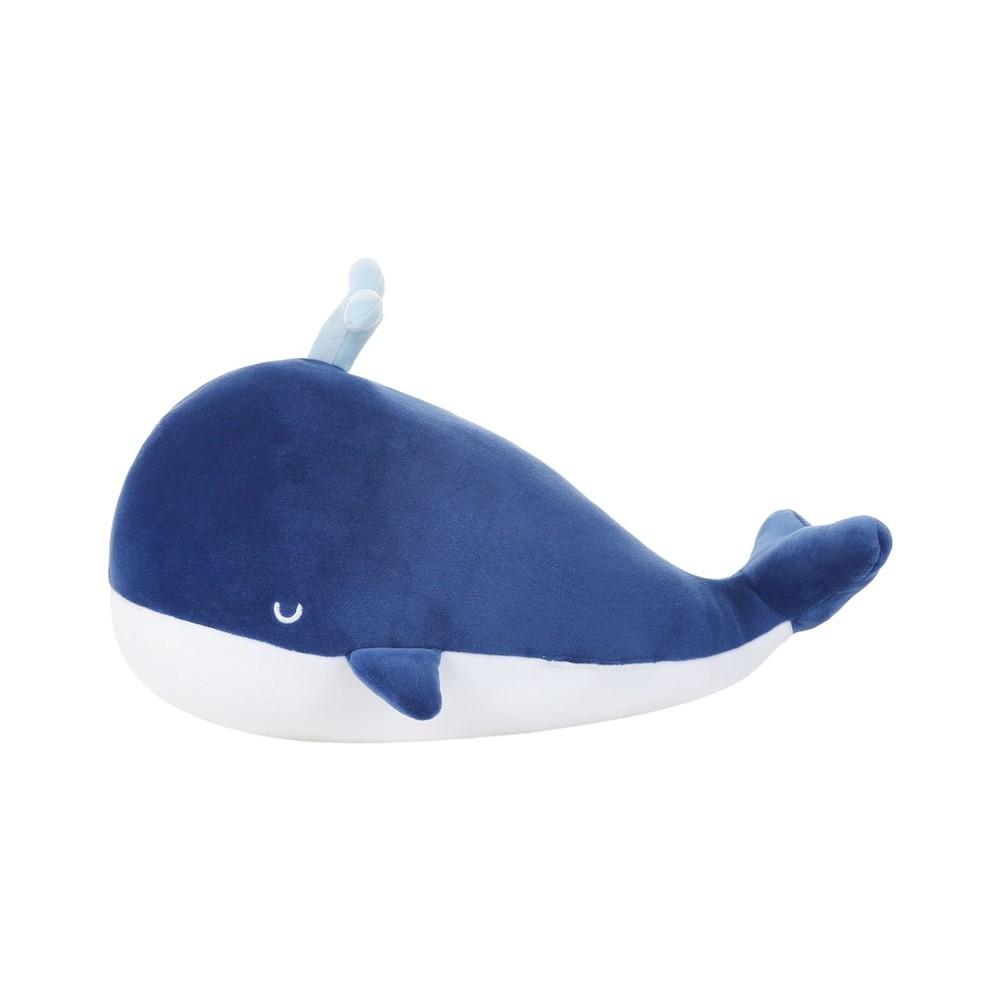 Peluche ballena pequeño azul fuerte